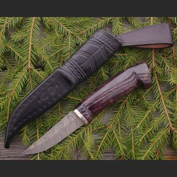 Hunting knife with damascus...